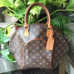 Authentic Louis Vuitton Ellipse MM w Name tag